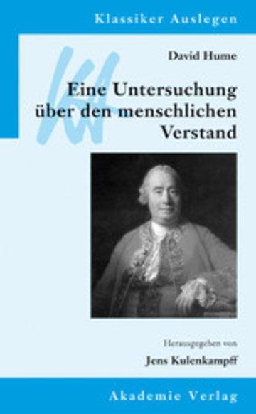 eBook David Hume: Eine Untersuchung über den menschlichen Verstand Cover