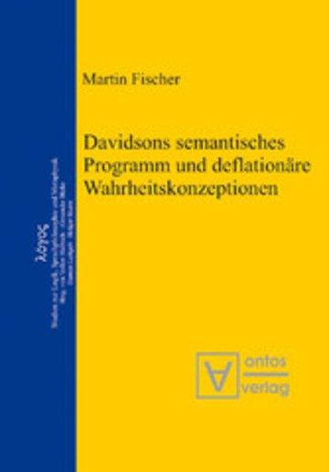 eBook Davidsons semantisches Programm und deflationäre Wahrheitskonzeptionen Cover