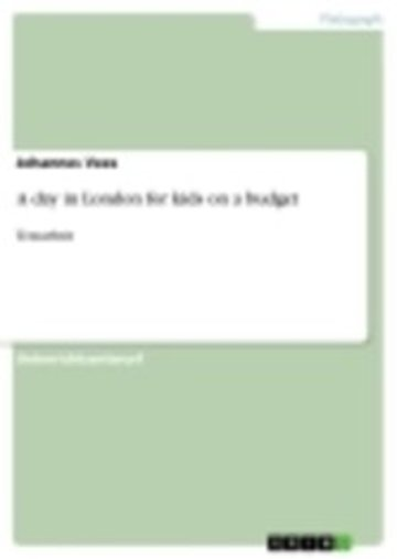 eBook A day in London for kids on a budget Cover