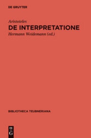 eBook De interpretatione Cover