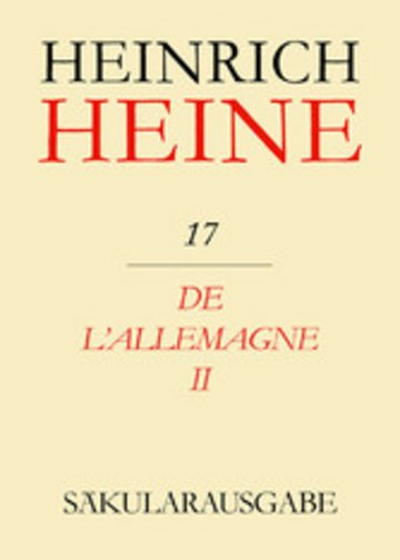 eBook De l'Allemagne II Cover