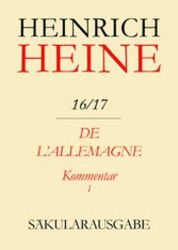 eBook De l'Allemagne. Kommentar. Teilband I Cover