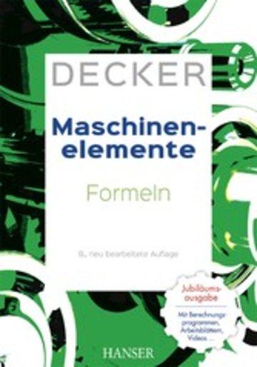 eBook Decker Maschinenelemente - Formeln Cover