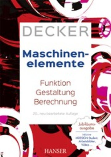 eBook Decker Maschinenelemente Cover