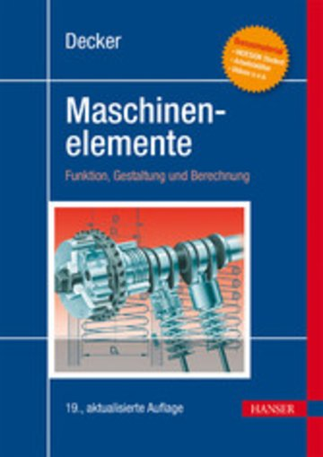 eBook Decker Maschinenelemente Cover