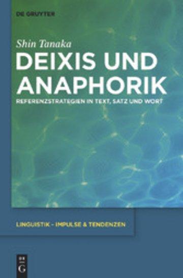 eBook Deixis und Anaphorik Cover