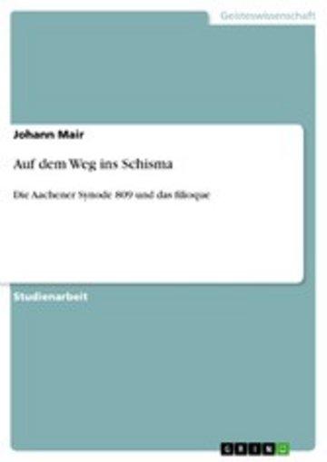 eBook Auf dem Weg ins Schisma Cover