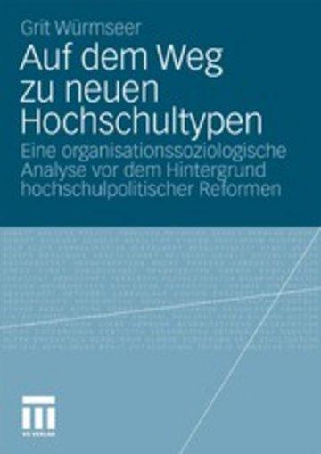 eBook Auf dem Weg zu neuen Hochschultypen Cover