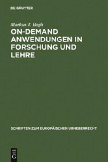 eBook On-demand Anwendungen in Forschung und Lehre Cover