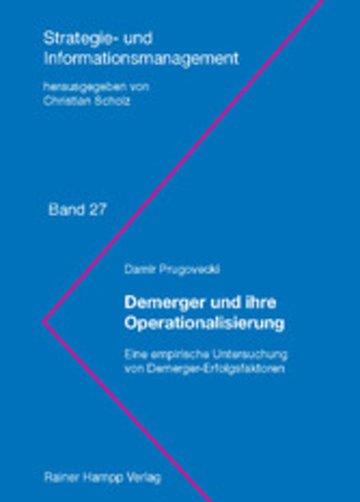 eBook Demerger und ihre Operationalisierung Cover
