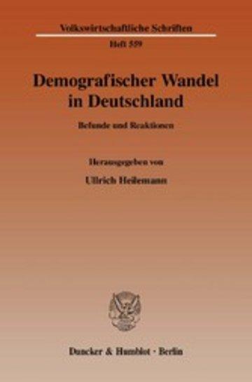 eBook Demografischer Wandel in Deutschland. Cover
