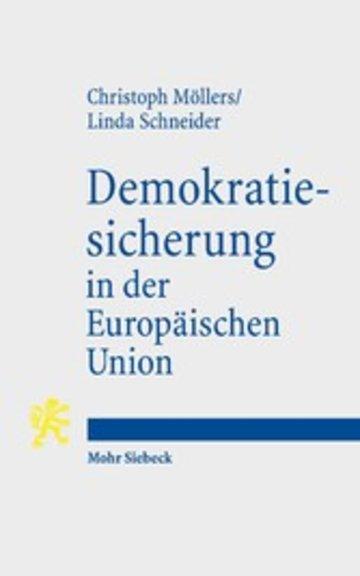 eBook Demokratiesicherung in der Europäischen Union Cover