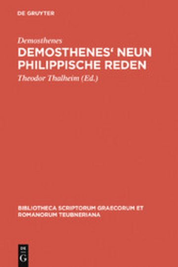 eBook Demosthenes' Neun philippische Reden Cover