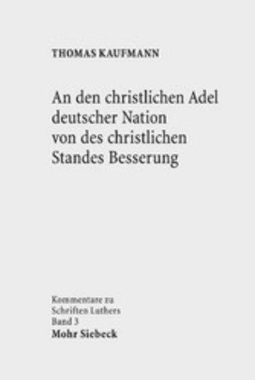 eBook An den christlichen Adel deutscher Nation von des christlichen Standes Besserung Cover