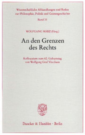 eBook An den Grenzen des Rechts. Cover