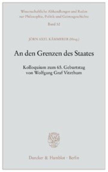 eBook An den Grenzen des Staates. Cover