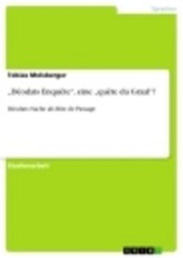 eBook 'Déodats Enquête', eine 'quête du Graal'? Cover