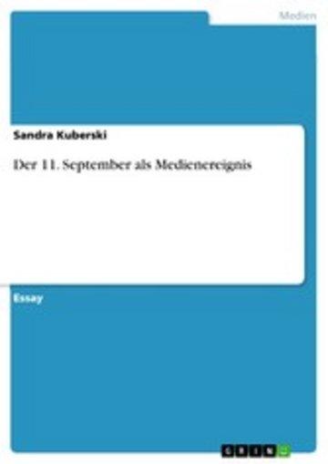 eBook Der 11. September als Medienereignis Cover