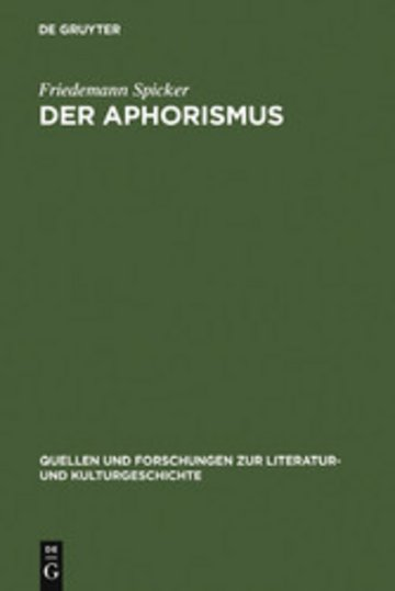 eBook Der Aphorismus Cover