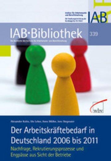 eBook Der Arbeitskräftebedarf in Deutschland 2006 bis 2011 Cover