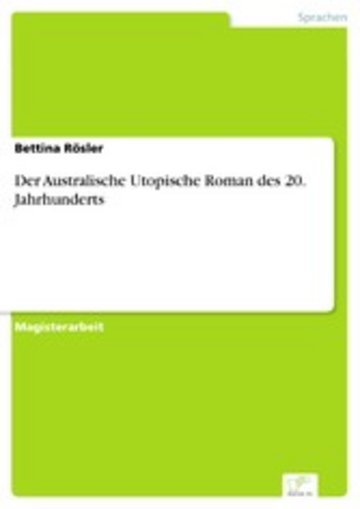 eBook Der Australische Utopische Roman des 20. Jahrhunderts Cover