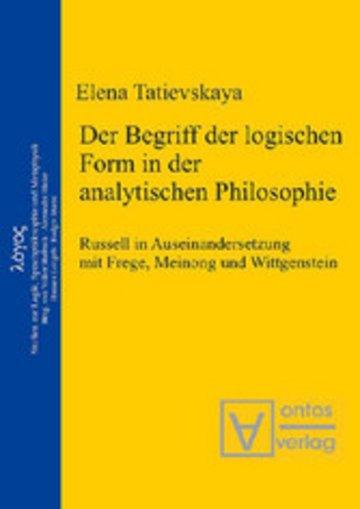 eBook Der Begriff der logischen Form in der Analytischen Philosophie Cover