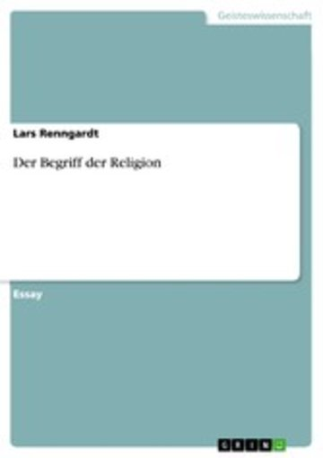 eBook Der Begriff der Religion Cover
