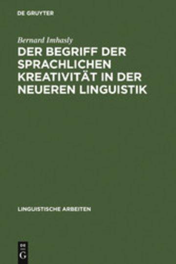 eBook Der Begriff der sprachlichen Kreativität in der neueren Linguistik Cover