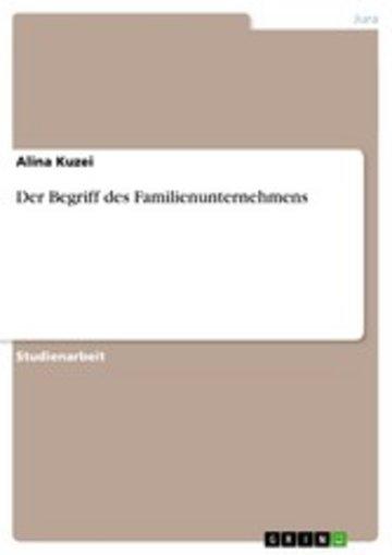 eBook Der Begriff des Familienunternehmens Cover