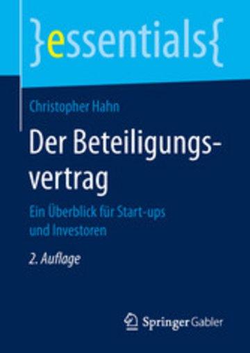 eBook Der Beteiligungsvertrag Cover
