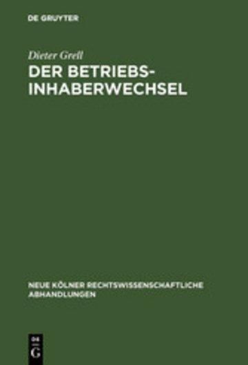 eBook Der Betriebsinhaberwechsel Cover