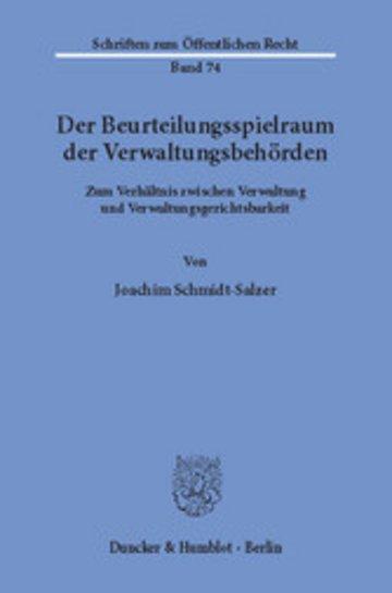 eBook Der Beurteilungsspielraum der Verwaltungsbehörden. Cover