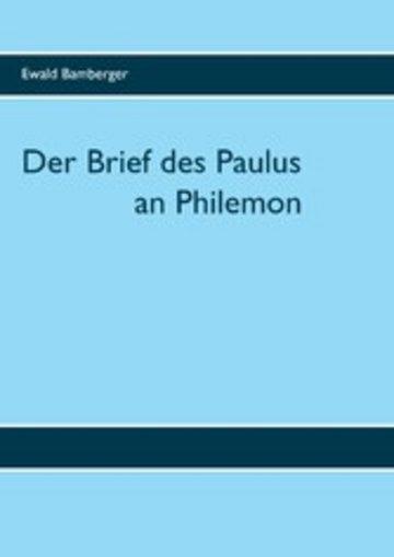eBook Der Brief des Paulus an Philemon Cover