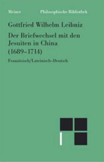 eBook Der Briefwechsel mit den Jesuiten in China (1689-1714) Cover