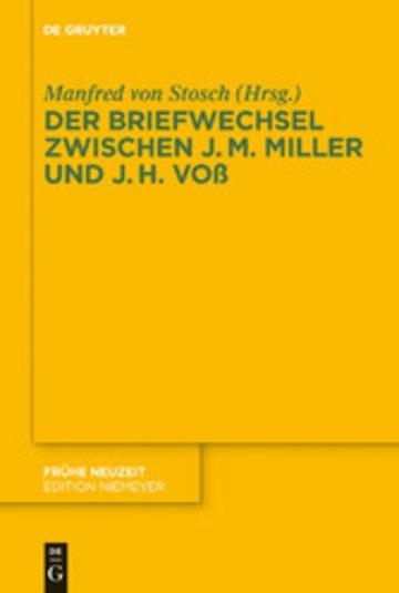eBook Der Briefwechsel zwischen Johann Martin Miller und Johann Heinrich Voß Cover