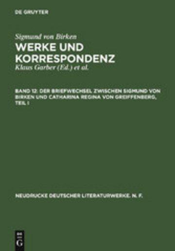 eBook Der Briefwechsel zwischen Sigmund von Birken und Catharina Regina von Greiffenberg Cover
