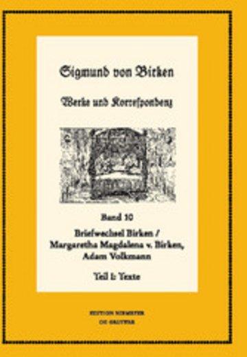 eBook Der Briefwechsel zwischen Sigmund von Birken und Margaretha Magdalena von Birken und Adam Volkmann Cover