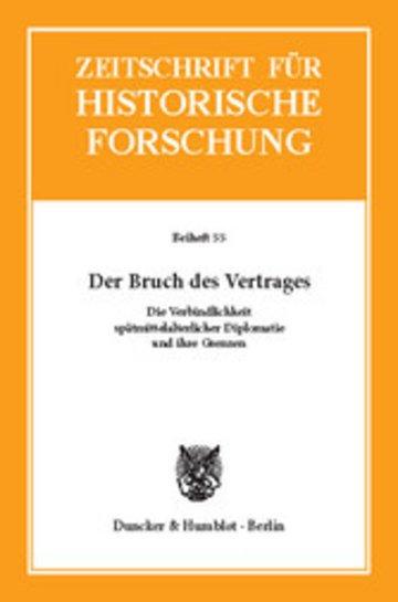 eBook Der Bruch des Vertrages. Cover