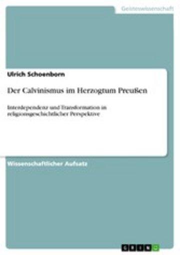 eBook Der Calvinismus im Herzogtum Preußen Cover