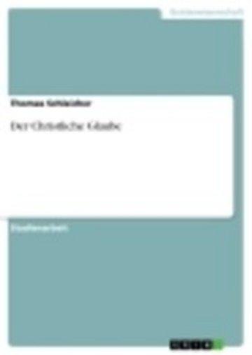 eBook Der Christliche Glaube Cover