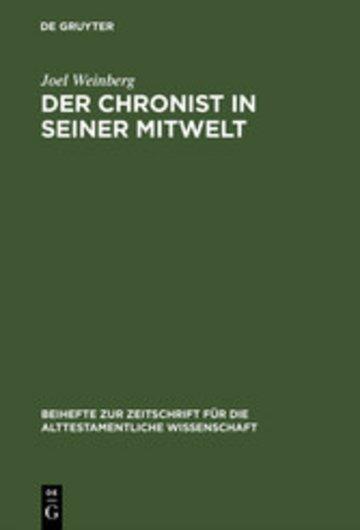 eBook Der Chronist in seiner Mitwelt Cover