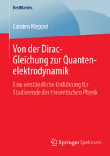 eBook Von der Dirac-Gleichung zur Quantenelektrodynamik Cover