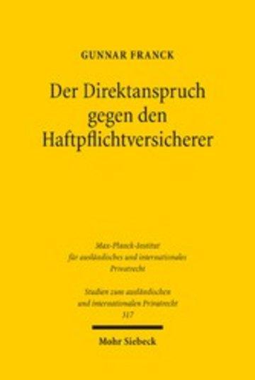 eBook Der Direktanspruch gegen den Haftpflichtversicherer Cover