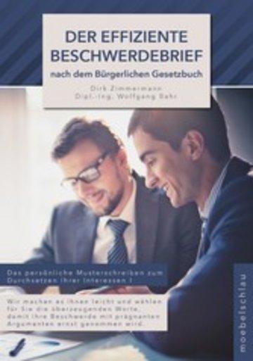 eBook Der effiziente Beschwerdebrief nach dem bürgerlichen Gesetzbuch Cover