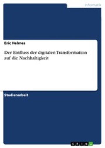 eBook Der Einfluss der digitalen Transformation auf die Nachhaltigkeit Cover