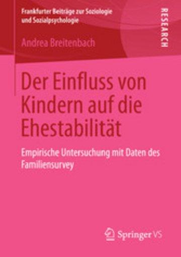 eBook Der Einfluss von Kindern auf die Ehestabilität Cover