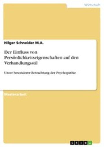 eBook Der Einfluss von Persönlichkeitseigenschaften auf den Verhandlungsstil Cover