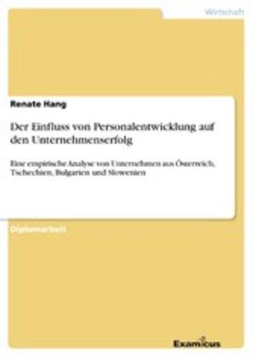 eBook Der Einfluss von Personalentwicklung auf den Unternehmenserfolg Cover