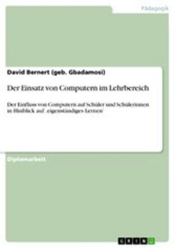 eBook Der Einsatz von Computern im Lehrbereich Cover