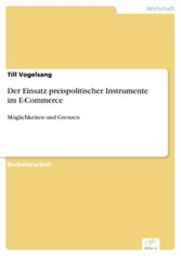 eBook Der Einsatz preispolitischer Instrumente im E-Commerce Cover